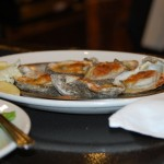 Grilled oysters at Deanies