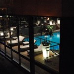Hyatt Pool at night