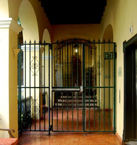 Keyed Gate Between Public and Private Areas