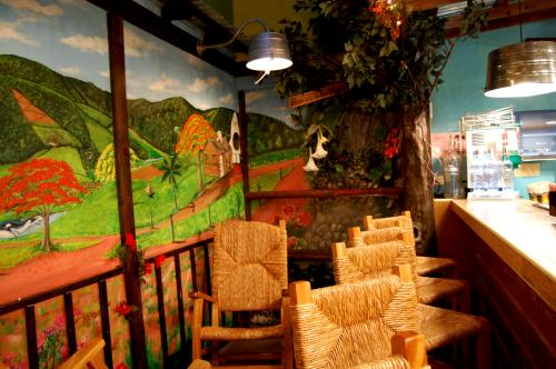 Seating in Raices bar area