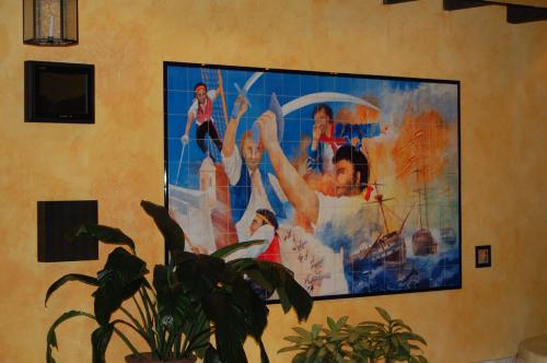 Painting in the lobby