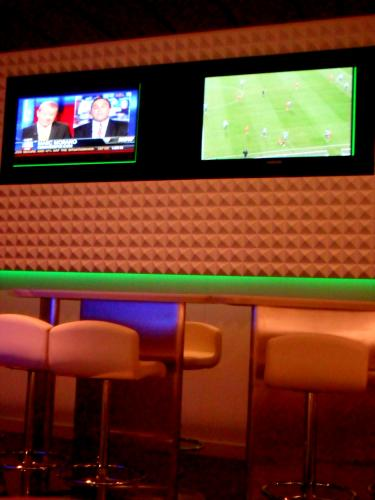 Big Screen TVs in Studio Lounge