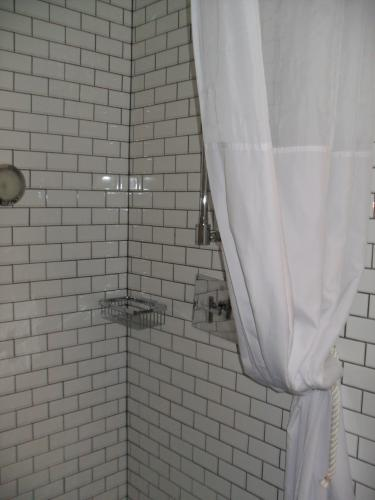 Private shower in double room