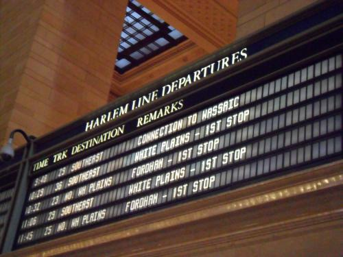 Grand Central departure sign