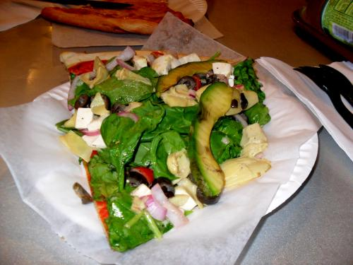 Salad Pizza at Toasties
