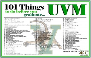 100 things to do before you graduate UVM