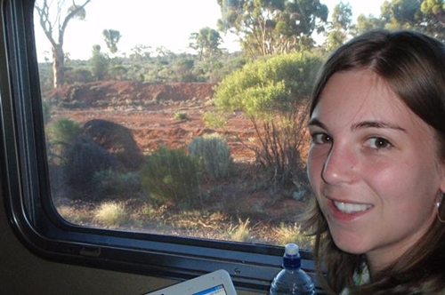 Brooke on Indian Pacific Train