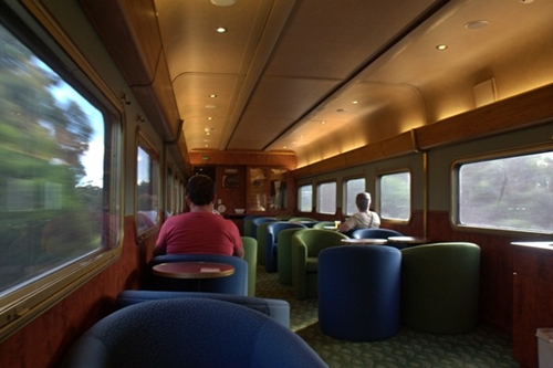 Inside Indian Pacific Train