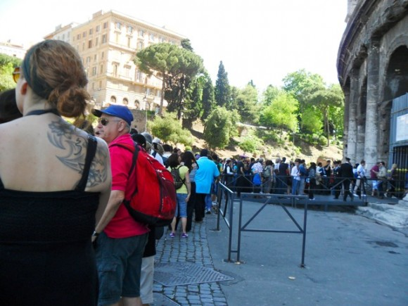 Line for the Colosseum