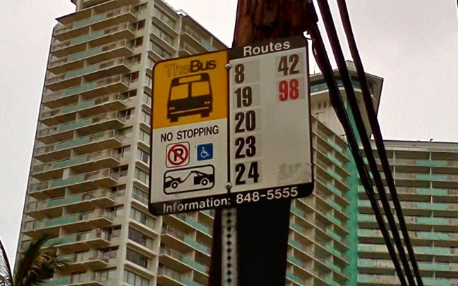 TheBus Stop Sign