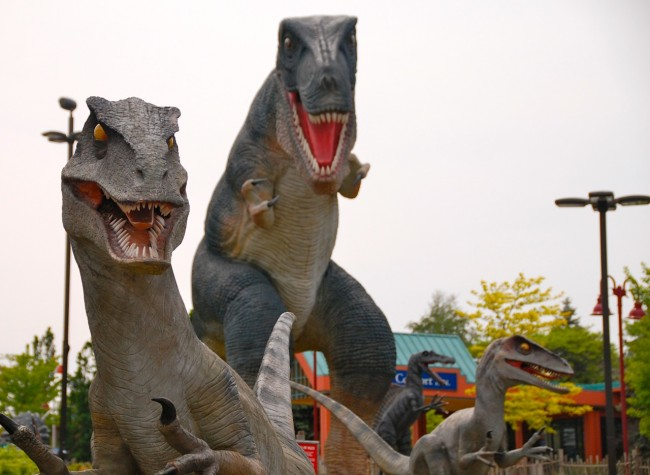 Dinosaurs on Clifton Hill