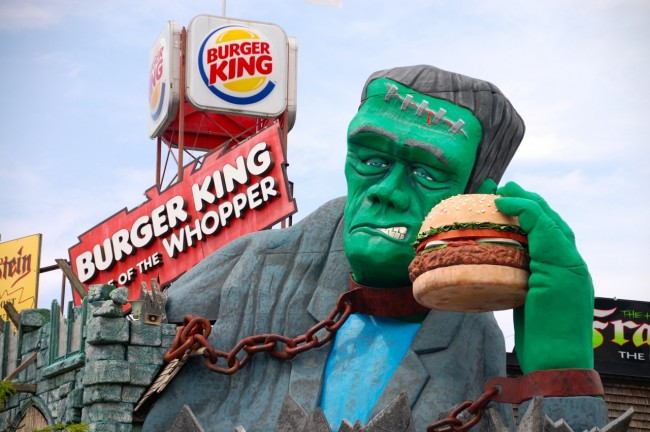 Frankenstein eats at Burger King
