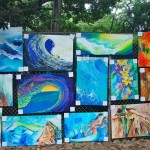 Art on the Zoo Fence in Waikiki